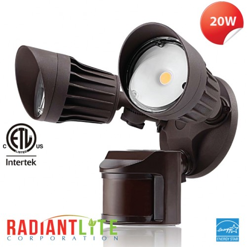 20W LED SECURITY LIGHT BRONZE