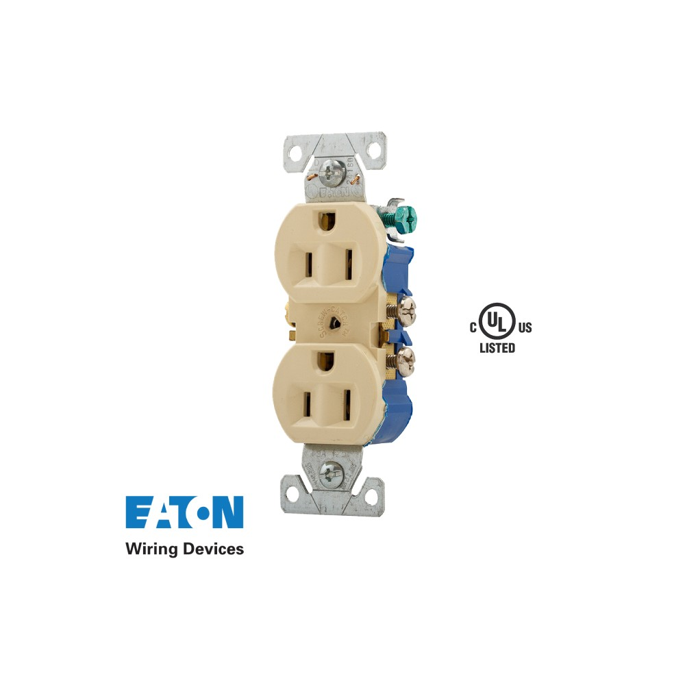 Receptacle Elec 125v 15a 2p Cooper Wiring Household Extension Cords