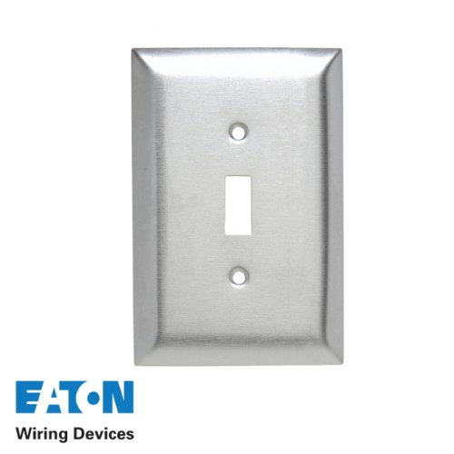 2X4 SINGLE TOGGLE STAINLESS STEEL COVER