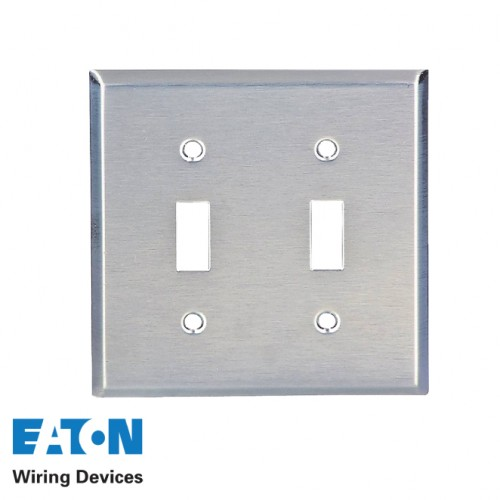 4X4 DOUBLE TOGGLE STAINLESS STEEL COVER