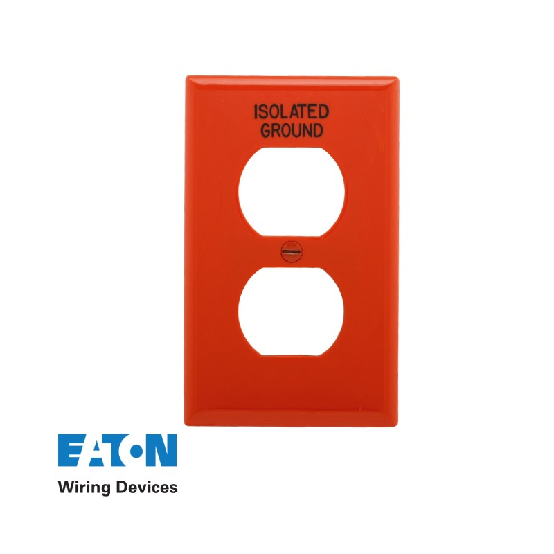 ISOLATED GROUND RECEPTACLE COVER (ORANGE)