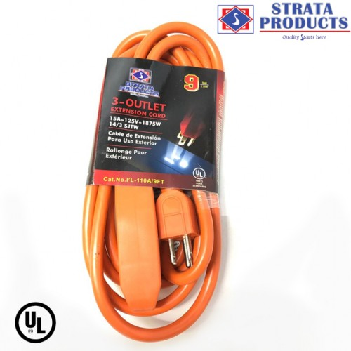 9 FEET EXTENSION CORD