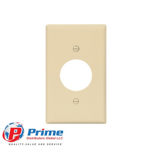 SINGLE RECEPTACLE PLASTIC WALLPLATES