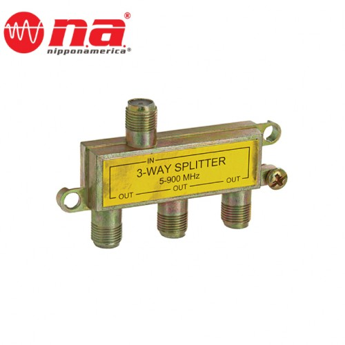 3 WAY CABLE TV SPLITTER