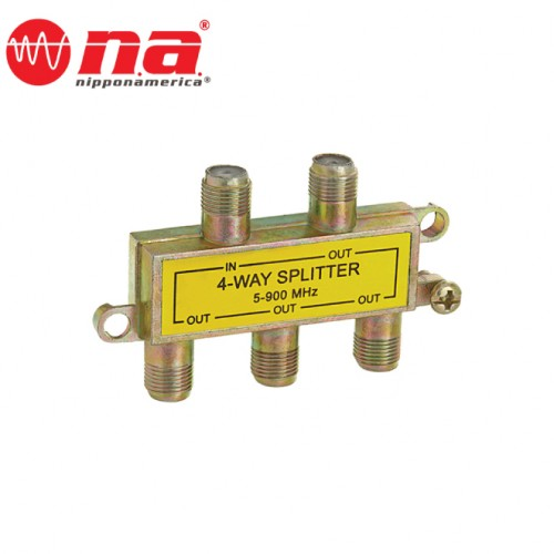 4 WAY CABLE TV SPLITTER