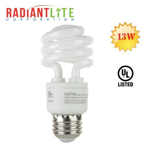13W Spiral CFL