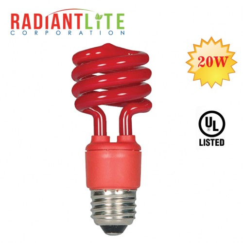 20W CFL COLOR BULB RED