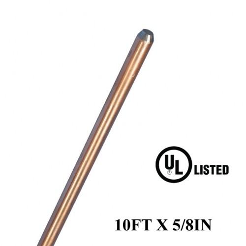 10FT X 5/8IN Copper Bonded Rods