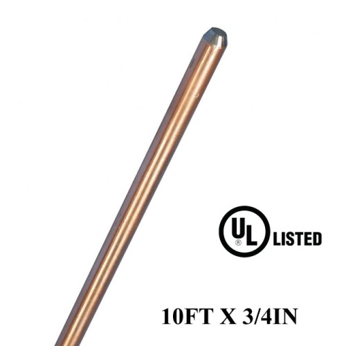 10FT X 3/4IN Copper Bonded Rods