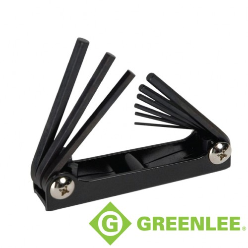 9PC FOLDING HEX KEY SET