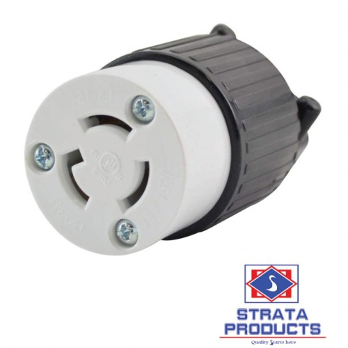 3P 15A 125V LOCKING CONNECTOR NEMA L5-15C