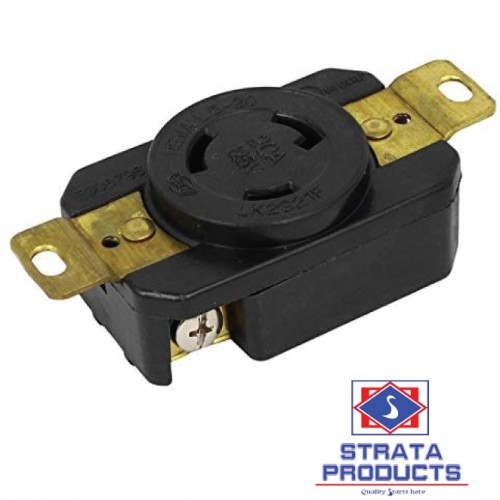 3P 20A 125V LOCKING RECEPTACLE NEMA L5-20R