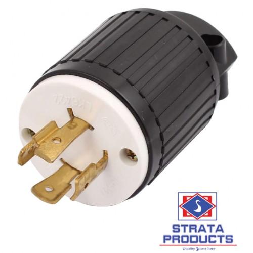4p 20a 250v Locking Plug Nema L15-20p