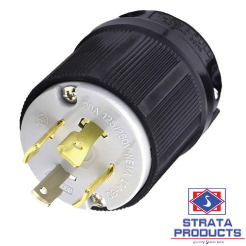 4P 30A 125/250V LOCKING PLUG NEMA L14-30P