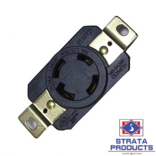 4P 30A 125-250V LOCKING RECEPTACLE NEMA L14-30R