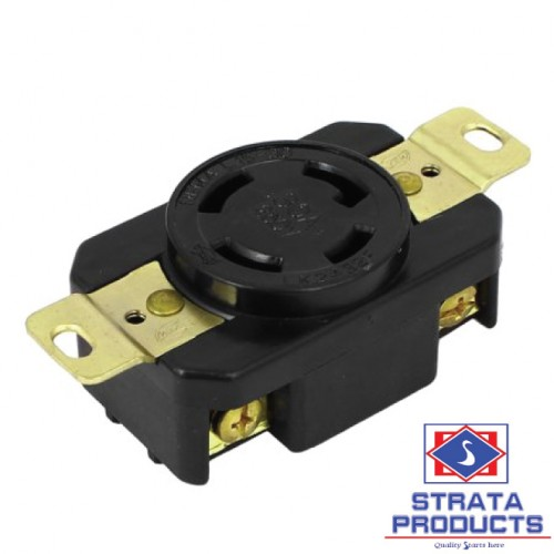 4P 30A 250V LOCKING RECEPTACLE NEMA L15-30R