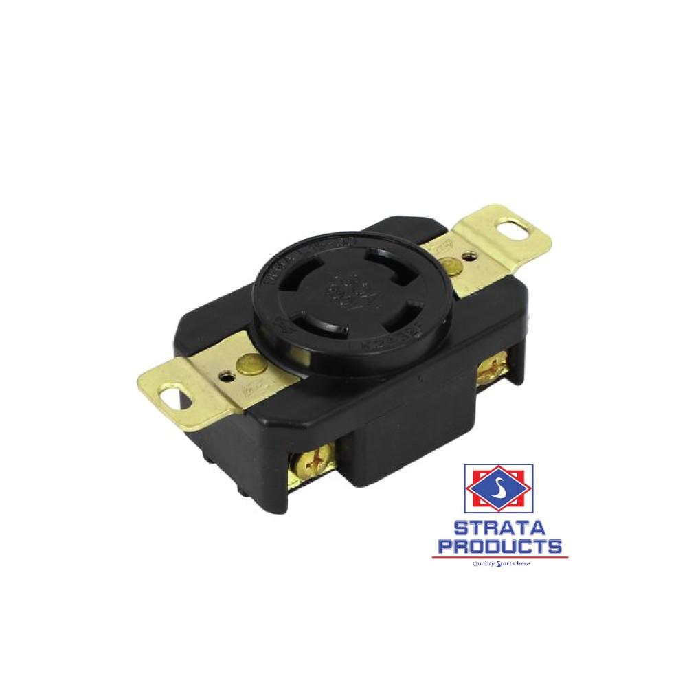4p 30a 250v Locking Receptacle Nema L15-30r