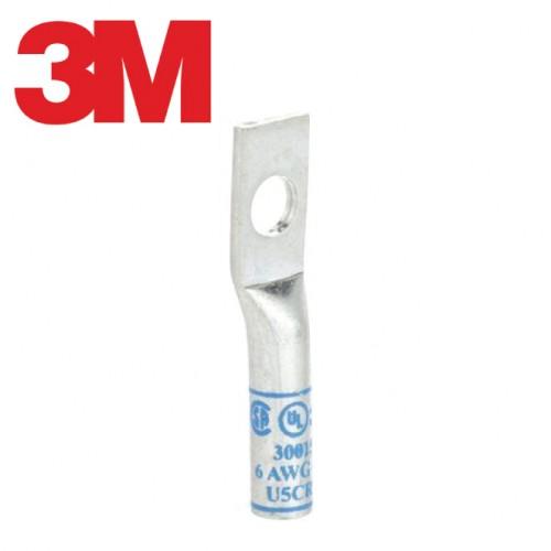 Scotchlok™ Copper One Hole Lug 30015, up to 35 kV, 6 AWG, Stud Size 1/4 (6), Blue