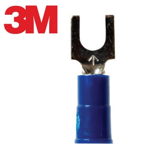 Scotchlok™ Block Fork Vinyl Insulated, 100/bottle, MV14-8FBX