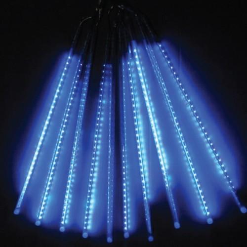 10 TUBE MINI METEOR SHOWER LIGHT BLUE COLOR