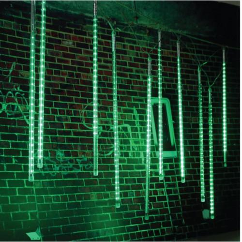 10 TUBE MINI METEOR SHOWER LIGHT GREEN COLOR