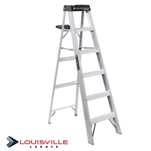 LADDER 6-FOOT ALUMINUM STEP LADDER