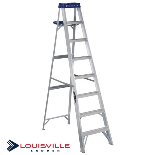 LOUISVILLE LADDER 8-FOOT ALUMINUM STEP LADDER