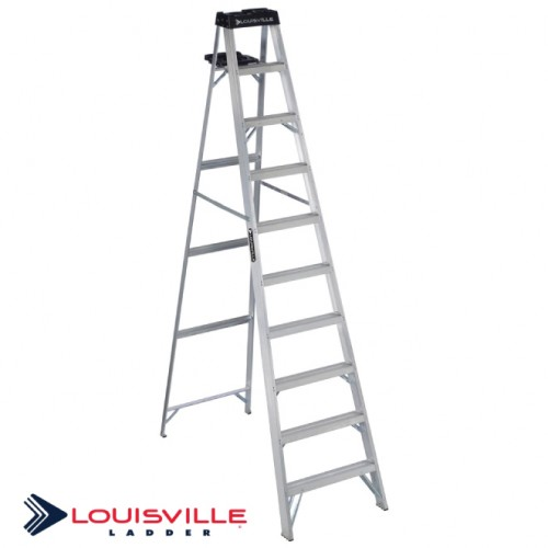 LOUISVILLE LADDER 10-FOOT ALUMINUM STEP LADDER