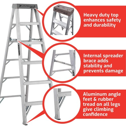 LOUISVILLE LADDER 12-FOOT ALUMINUM STEP LADDER