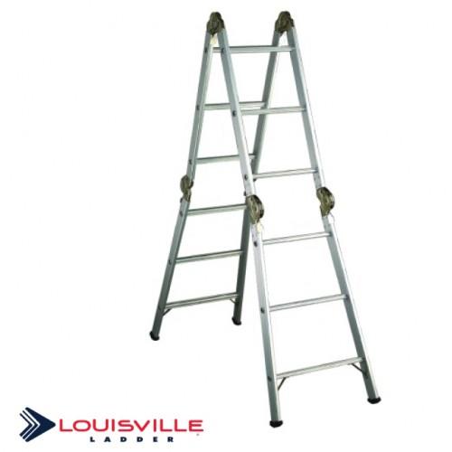 Louisville Aluminum Articulated Folding Ladder 13-Foot