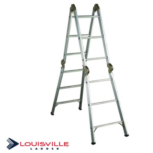 Louisville Aluminum Articulated Folding Ladder 17-Foot