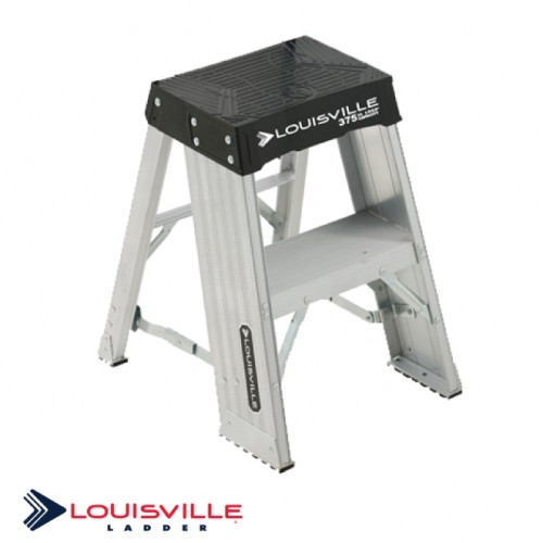 LOUISVILLE LADDER 2-FOOT ALUMINUM STEP STOOL