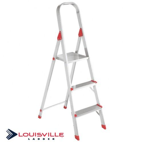 LOUISVILLE LADDER 3-FOOT ALUMINUM STEP STOOL