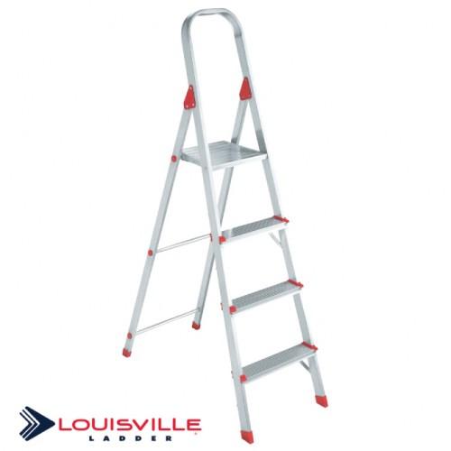 LOUISVILLE LADDER 4-FOOT ALUMINUM STEP STOOL