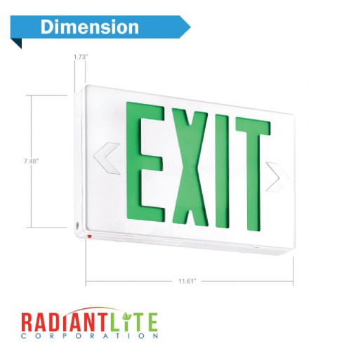 LED EXIT SIGN GREEN