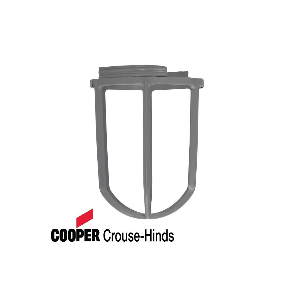 Cooper Crouse-Hinds Zinc Die Cast Light Fixture Wire Guard for Use with Vaporproof Lighting