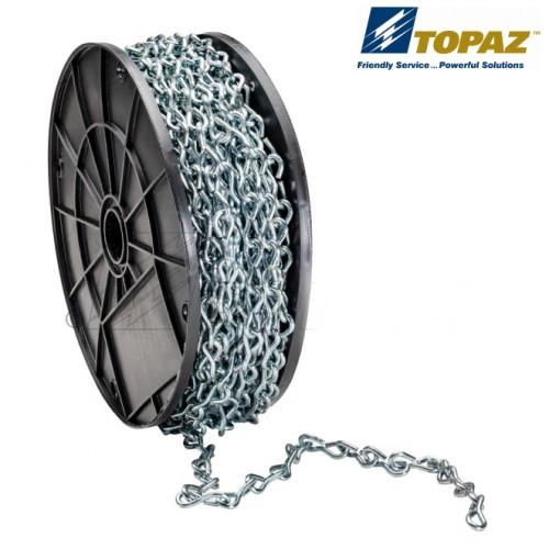 Jack Chains, 12 Gauge Standard, 100' Spools, Zinc Plated Steel