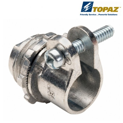 """1-1/4"""" Straight Squeeze Type BX-Flex Connector"""