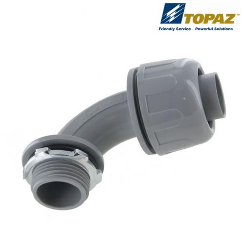 """1"""" 90° Gray Nylon Liquidtight Connector"""