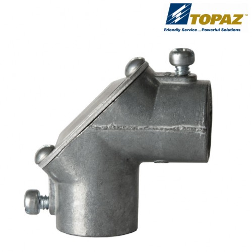 "Share 1"" Rigid To Rigid 90° Pull Elbows Zinc With Gasket"