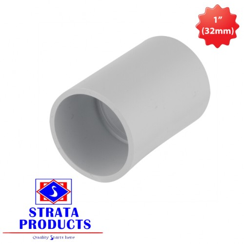 "1"" (32mm) PVC ELECTRICAL COUPLING"