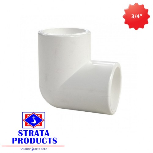 "3/4"" PVC 90 DEGREE ELECTRICAL SHORT BENDS"