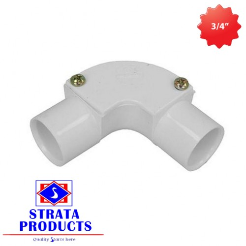 """3/4"""" PVC 90 DEGREE ELECTRICAL INSPECTION BEND"""