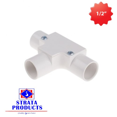 """1/2"""" PVC ELECTRICAL INSPECTION TEE"""