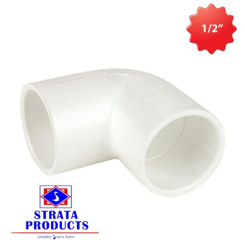 """1/2"""" PVC 90 DEGREE ELECTRICAL SHORT BENDS"""
