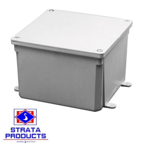 6X6X4 PVC HEAVY DUTY GREY JUNCTION BOX
