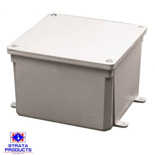 12X12X4 PVC HEAVY DUTY GREY JUNCTION BOX