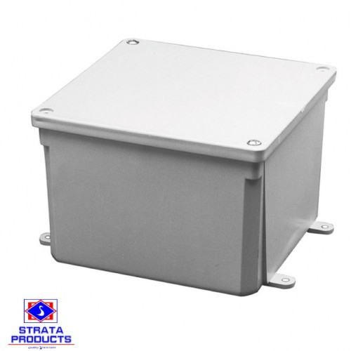 12X12X6 PVC HEAVY DUTY GREY JUNCTION BOX