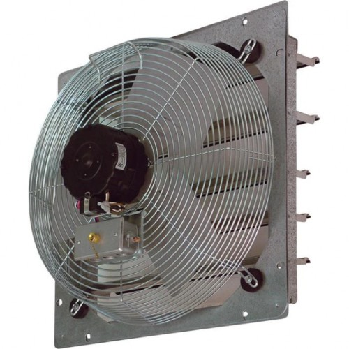 Shutter-Mounted Direct Drive Exhaust Fan