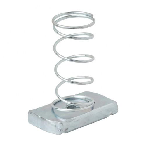 Spring Nut, Electro Galvanized, M6